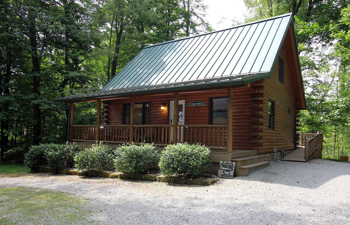 in ohio cabin beautiful getaways quietside acres logan on log for cabins romantic
